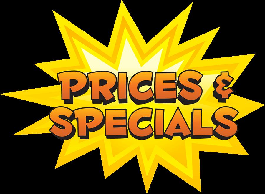 Prices & Specials